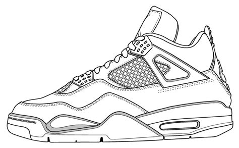 Coloring Jordans by 4 Coloring Page Coloring Pages