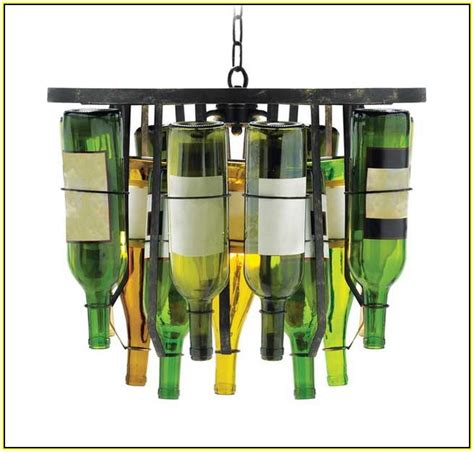 wine bottle chandelier diy home design ideas