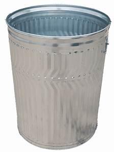 Galvanized, Steel, Trash, Can