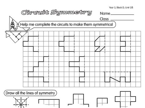 circuit symmetry a year 4 symmetry worksheet