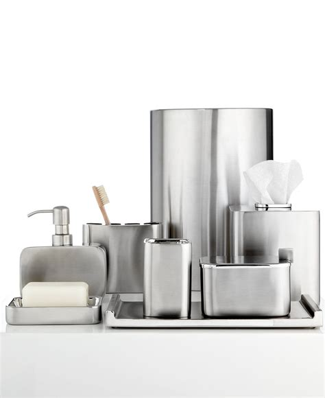 Modern Bathroom Accessories Ideas by Closeout Hotel Collection Hotel Modern Brushed Stainless