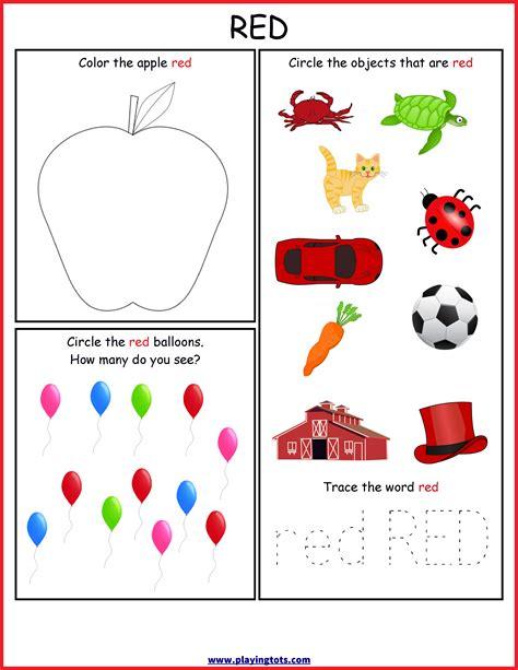 worksheet color free printable toddler preschool