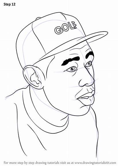 Tyler Creator Draw Step Drawing Celebrities Tutorials