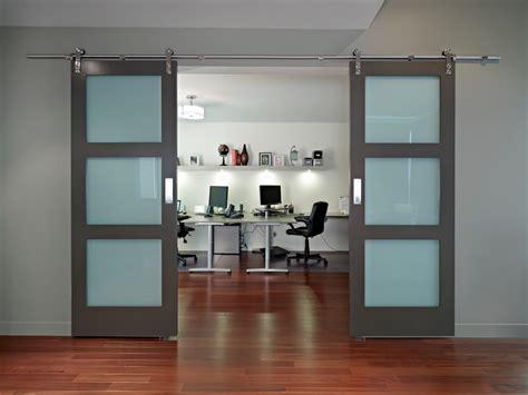modern barn doors home office contemporary
