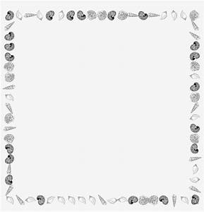 Svg, Freeuse, Library, Seashells, Clipart, Boarder, -, Seashell, Border, Black, And, White