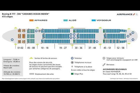 plan si es boeing 777 300er air sièges boeing 777 air