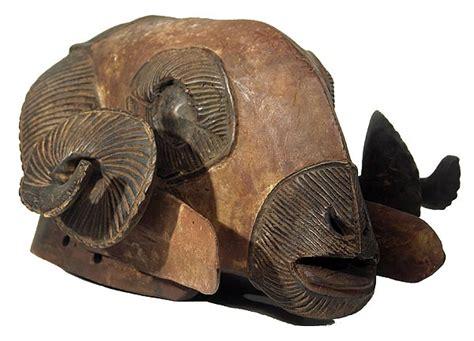 baule ram mask  ivory coast
