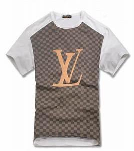 T Shirt Louis Vuitton Homme : tee shirt louis vuitton hommes pas cher cotton lattice ~ Melissatoandfro.com Idées de Décoration