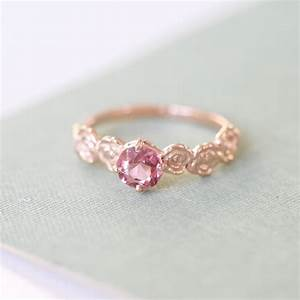 9ct rose gold pink spinel floral engagement ring by With wedding rings pink gold
