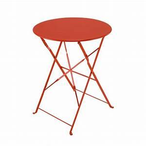 Table Pliante Metal : table pliante de jardin en m tal rouge d 58 cm confetti ~ Teatrodelosmanantiales.com Idées de Décoration