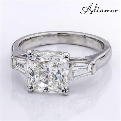 radiant cut custom engagement ring adiamor