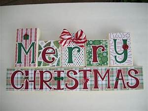 merry christmas blocks christmas pinterest With merry christmas block letters