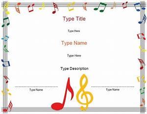 8 best children39s choir images on pinterest music With choir certificate template