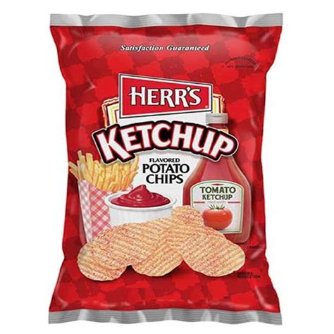 Herr's Ketchup Flavored Potato Chips 3.5 oz Bags - Pack of ...