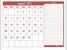Free 2017 Printable Calendar Templates as PDF and Image