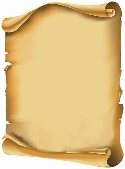 Scroll Clipart Transparent Clip Scrolls Yopriceville Parchment