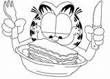 Lasagna Drawing Garfield Getdrawings Coloring Pages sketch template
