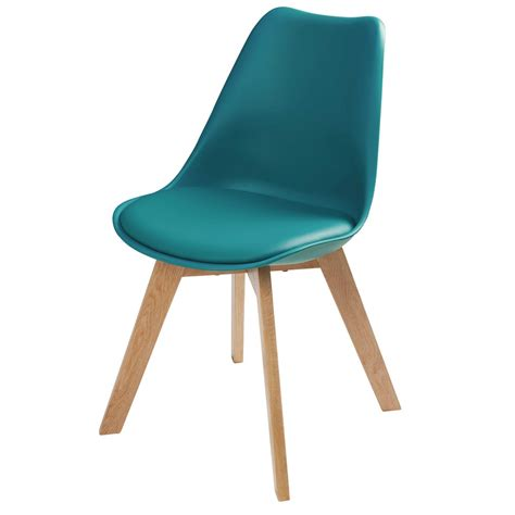 la chaise et bleu chaise scandinave bleu pétrole maisons du monde