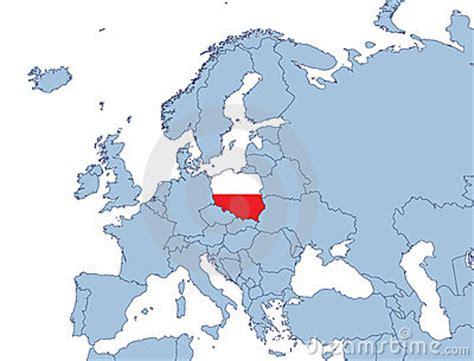 Pologne Carte Europeenne by Polen Auf Europa Karte Stockbild Bild 4291191