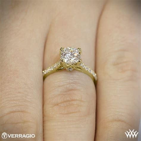 verragio  prong pave diamond engagement ring