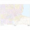 Detroit, Michigan ZIP Codes - The Map Shop