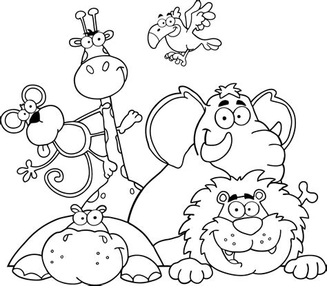 birds and giraffes coloring pages ausmalbilder dschungel ausmalbilder f 252 r kinder 5947