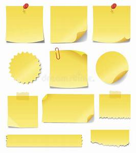 yellow sticky notes stock vector image 57086475 With letter shaped sticky notes
