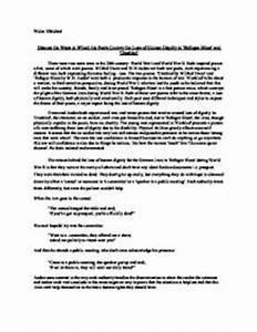 Examples Of Argumentative Thesis Statements For Essays Human Dignity Essay Conclusion Example Learn English Essay Writing also Population Essay In English Human Dignity Essay Essays About Destiny Human Dignity Essay  Romeo And Juliet Essay Thesis