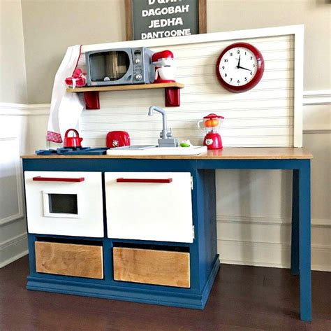 diy play kitchen  kids woodworking build plan