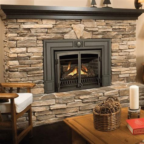 Wood Pellet Fireplace by Valor G3 With Fenderfire Double Doors Gas Fireplace