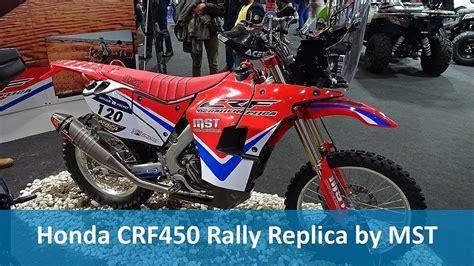 honda crf rally replica  mst youtube