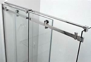 porte de douche coulissante en verre With pare douche porte coulissante