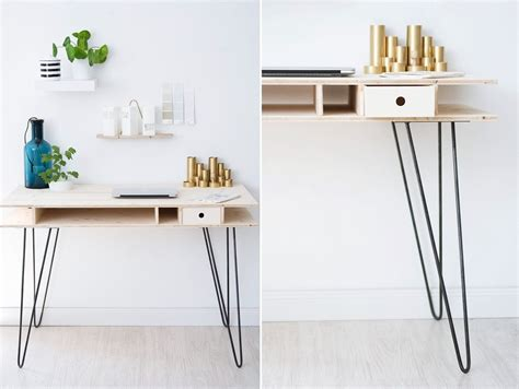 diy desk with hairpin legs the key to chic diy furniture is a set of hairpin legs