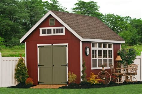 Backyard Outbuildings by Outdoor Barns And Sheds For The Backyard Amish Built Sheds