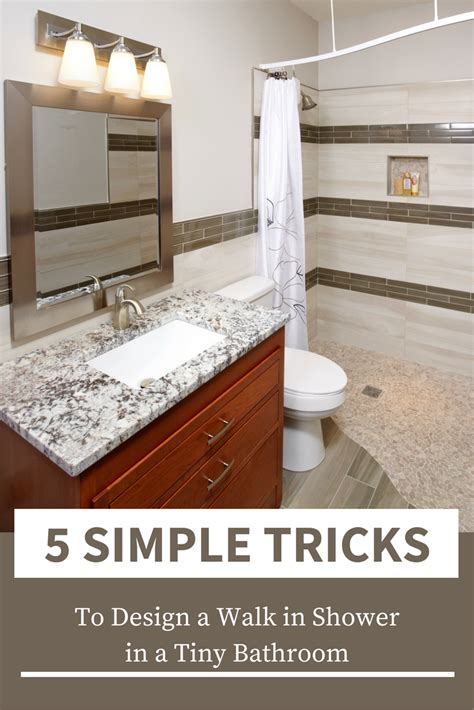 5 walk in shower ideas for a tiny bathroom � innovate