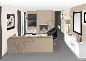 deco salon taupe et noir With salon couleur taupe et beige 0 deco chambre adulte blanc meilleures images d