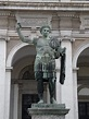 Bronze statue of Constantine the Great in front of San Lor ...
