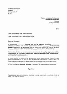 Arret Assurance Auto : exemple gratuit de lettre information employeur par salari victime un accident travail ~ Gottalentnigeria.com Avis de Voitures