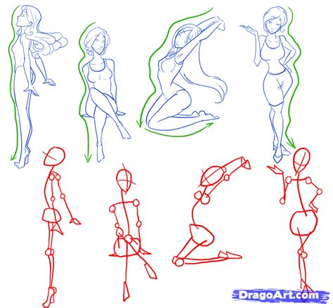draw female figures draw female bodies step