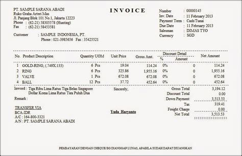 Invoice Contoh by Contoh Invoice Yang Baik Top 10 Work At Home