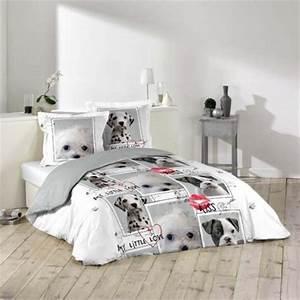 Housse de couette ado adolescent linge de lit housse for Tapis chambre enfant avec housse de couette chien 1 personne
