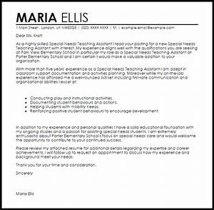 special needs teaching assistant cover letter sample With educational assistant cover letter examples