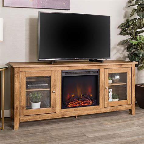 furniture fireplace tv stand walker edison furniture company 58 in wood media tv stand