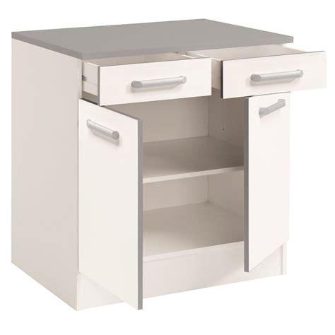 but meuble de cuisine bas meuble bas de cuisine contemporain 80 cm 2 portes 2