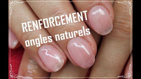 Renforcement de l'ongle naturel manucure française avec les produits gelous youtube