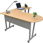 staples l shaped desk linea italia massima line l shaped desk 29 1 2 quot h x 59 1