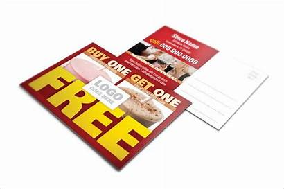 Postcard Restaurant Promotional Template Sample Examples 6x9