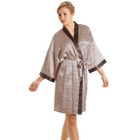 robe de chambre en polaire femme womens luxury print satin bath robe wrap