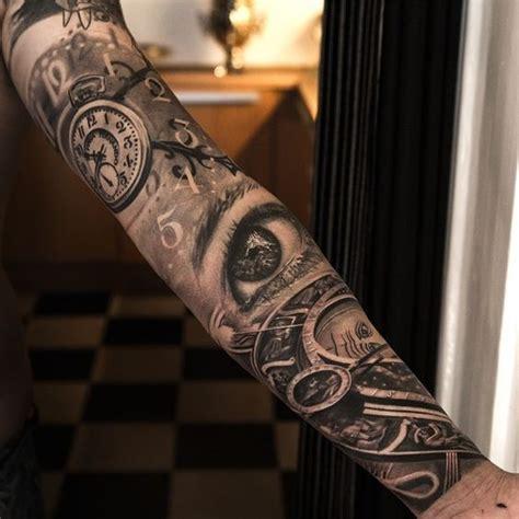 die  besten ideen zu uhrwerk tattoo auf pinterest