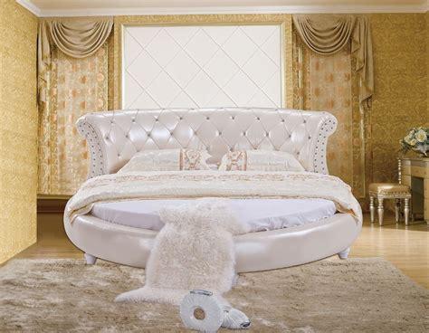 modern design   soft leather bed gold large
